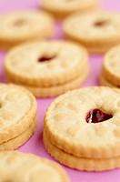 Jammie Dodgers Shortcake biscuits with raspberry jam, UK