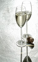 Two champagne glasses