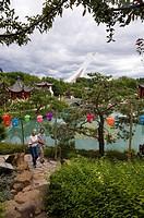 Chinese gardens at Botanical Gardens, Montreal, Quebec, Canada