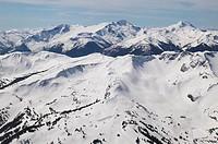 aerial of whistler mountain alpine and sub alpine, british columbia, Canada