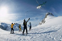 Helicopter Skiing, Coast Mountains, British Columbia, Canada