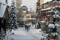 Whistler Village in winter, British Columbia, Canada