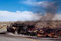 Burning Car Wreckge