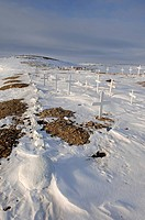 Graveyard, outside Cambridge Bay, Nunavut