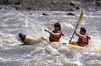 Couple Kayaking Colorado River Moab Utah