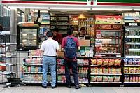 Kiosk in Singapore city, Asia