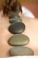 Hot Stones Lining the Spine