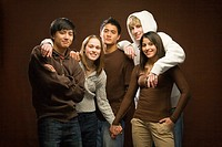 Five Smiling Teens