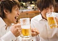 Men Having a Beer in Pub