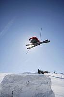 Skier Flying Through the Air