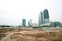 Bare soil at construction site