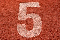 Track number 5 of a running track