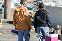 Senior Couple going Fishing, North Vancouver, BC