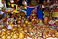 Close-up of craft products at a store, Arequipa, Peru