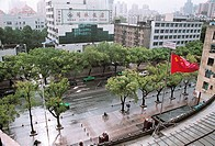 Elevated view of roads in a city, The north road of Wuyi in the rain Fuzhou City, Fujian Province, People´s Republic of China, FOR EDITORIAL USE ONLY