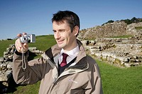 UK. England, Northumberland, Hexham, Hadrian´s Wall, Housesteads Roman Fort, UNESCO World Heritage Site, National Trust, built AD122.