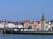 Germany, Europe, Lindau, Lake Constance, Bavaria, harbor, harbor, Mang Tower, old town