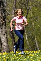 Woman, young, Jogging, nature