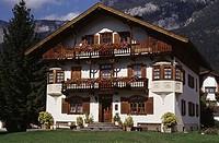 Facade of a house, Tyrolean House, Seefeld, Tyrol, Austria