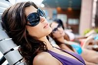 Young Woman Sunbathing