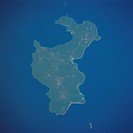 The largest and most important island of the Loyality Islands, Lifou, can be seen in this northwest_looking view. Irregular in shape, Lifou Island is ...