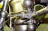 06/03/2002 __ Shown in the photo is the gaseous nitrogen pressure regulator in the left Orbital Maneuvering System pod on Space Shuttle Endeavour. The...