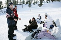 Group of people on a ski slope