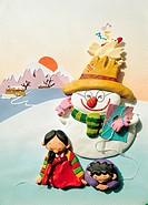 Paper Illustration, New Year´s Holiday,Korea