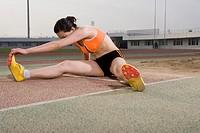 a female long jumper