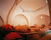 the inner scene of the tomb of a imperial concubine in Kaahi,Sinkiang,China