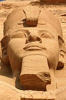 The Temple of Ramesses II _ One of the four statues of Ramesses II at the temple´s gate