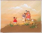 Paper Illustration, Kid Blowing Dandelion