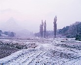 Farm Village In Winter,Korea
