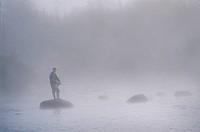 Salmon Fishing, Silver Mountain Lodge, Newfoundland, Canada