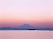 Evening View, Mt. Fuji Mountain Zushi Kanagawa Japan Sea Enoshima