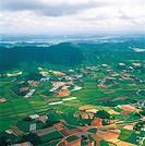 Aerial View Of Rural Area,Korea
