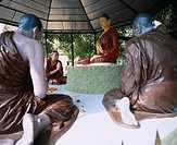 Buddah Five persons pursuit_of_knowledge company Sarnath India