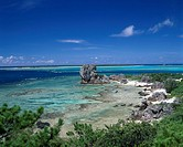 Seashore scenery, Izena island, Okinawa, Japan