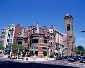 Victorian architecture, Housing building, Back Bay, Boston, United States of America
