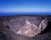 Mt. Mihara central crater Oshima Tokyo Blue sky Sea Rock