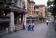 Way, Passerby, Colons island, city view, Xiamen, Fujian, China, March