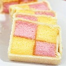 Battenberg cake Two coloured sponge cake, UK