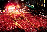 Red Devils,2006 World Cup,City hall,Seoul,Korea