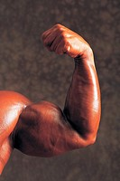 Man Showing Muscle