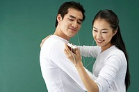 Couple Listening to Music, Korean