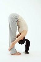 Young Woman Practicing Yoga, Korean