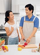 Couple in Kitchen, Korea