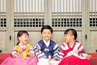 Kids In Korean Costume,Korea