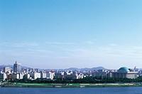 Hangang River,Yeouido,Seoul,Korea