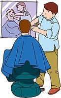 Barber, Illustrative Technique